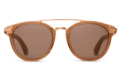 TOMS - Harlan Ash Brown Crystal Sunglasses, Brown Gradient Lenses