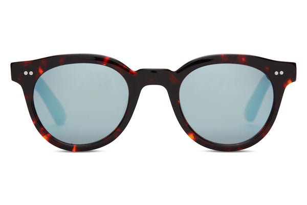 TOMS - Fin Whiskey Tortoise Sunglasses, Black Diamond Mirror Lenses