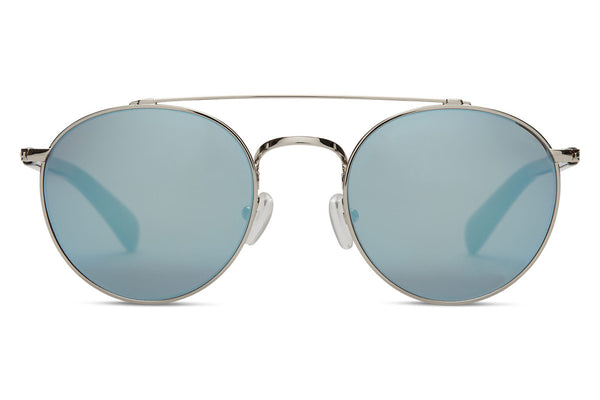 TOMS - Jarrett Whiskey Tortoise Sunglasses, Black Diamond Mirror Lenses
