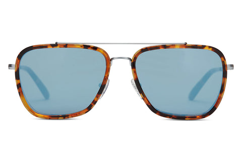 TOMS - Irwin Whiskey Tortoise Sunglasses, Black Diamond Mirror Lenses