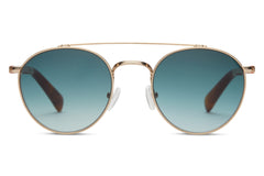 TOMS - Jarrett Peach Crystal Sunglasses, Blue Brown Gradient Lenses
