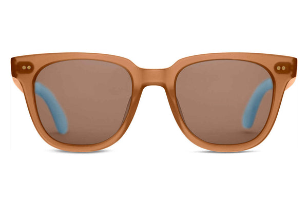 TOMS - Memphis 201 Ash Brown Crystal Sunglasses, Brown Gradient Lenses