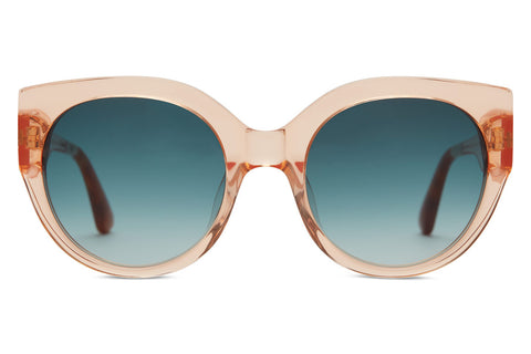 TOMS - Luisa Peach Crystal Sunglasses, Blue Brown Gradient Lenses