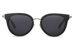 TOMS - Rey Shiny Black Sunglasses, Dark Grey Lenses