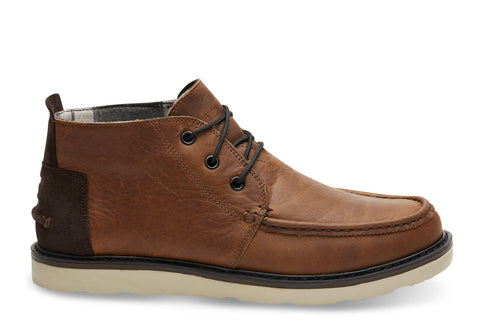 TOMS - Men's Chukka Waterproof Brown Pull Up Leather Boots
