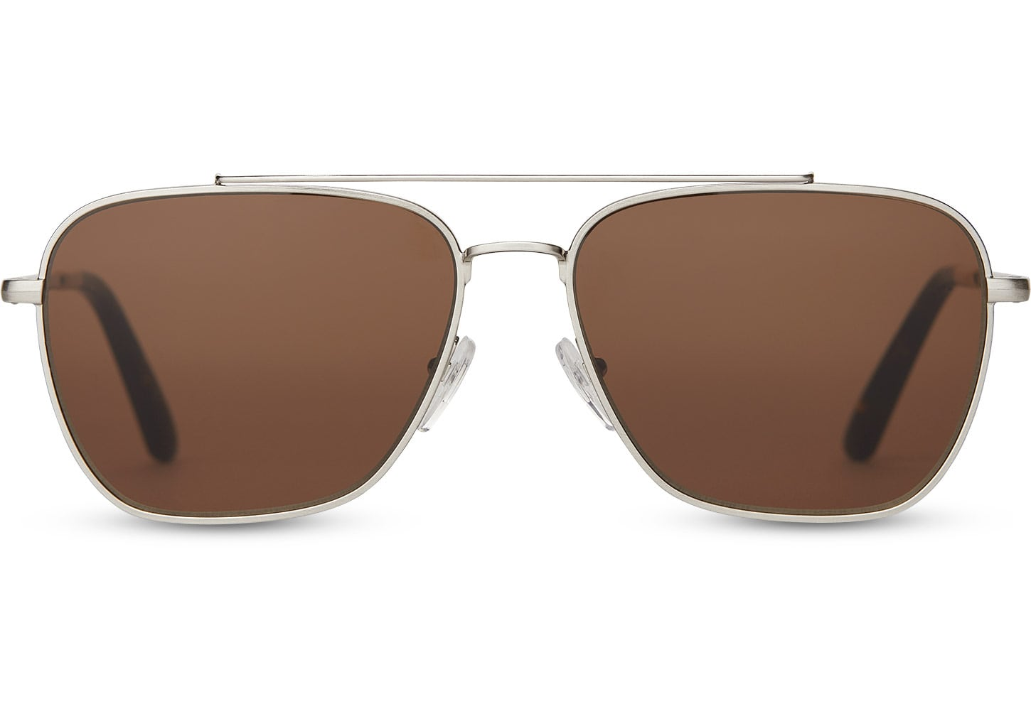 TOMS - Irwin 201 Silver Polarized Sunglasses / Solid Brown Lenses