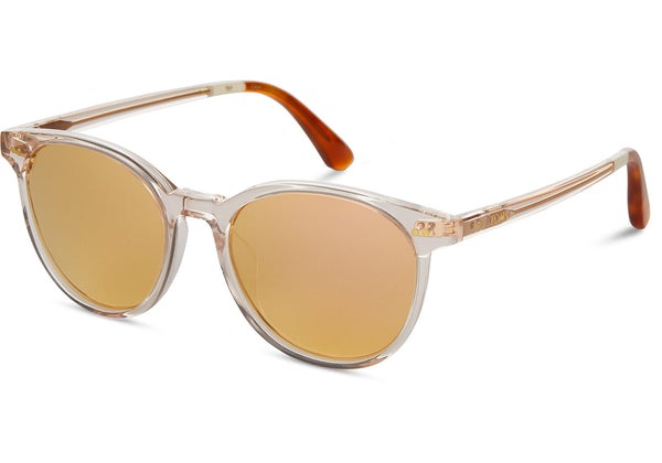 TOMS - Bellini Champagne Crystal Sunglasses / Rose Mirror Lenses