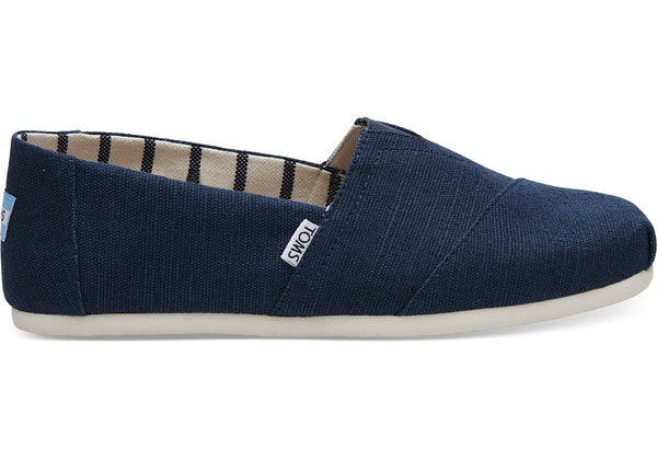 TOMS - Men's Classics Venice Collection Majolica Blue Heritage Canvas Slip-Ons