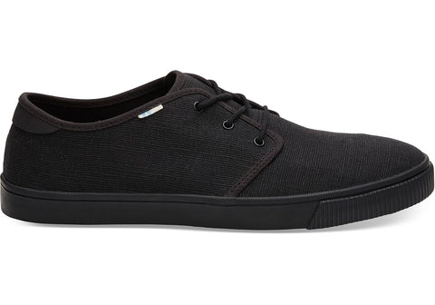 TOMS - Men's Topanga Collection Carlo Black on Black Heritage Canvas Sneakers