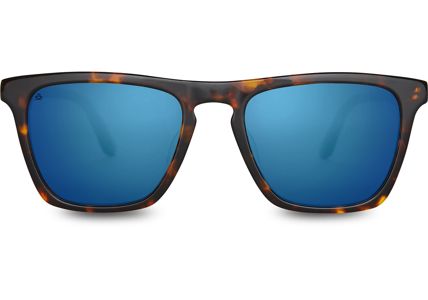 TOMS - Dawson Whiskey Tortoise  Sunglasses / Deep Blue Mirror Lenses