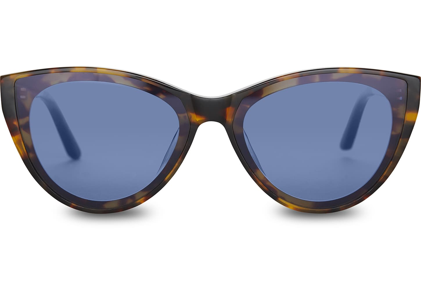 TOMS - Josie Blonde Tortoise Sunglasses / Midnight Blue Lenses