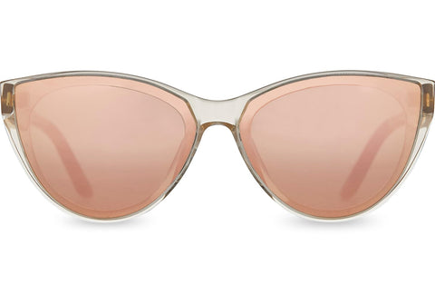 TOMS - Josie Champagne Crystal Sunglasses / Rose Mirror Lenses