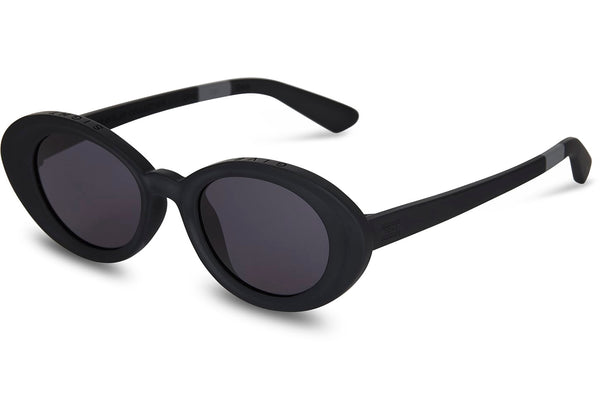 TOMS - TRAVELER by TOMS Rossio Matte Black Sunglasses / Dark Grey Lenses
