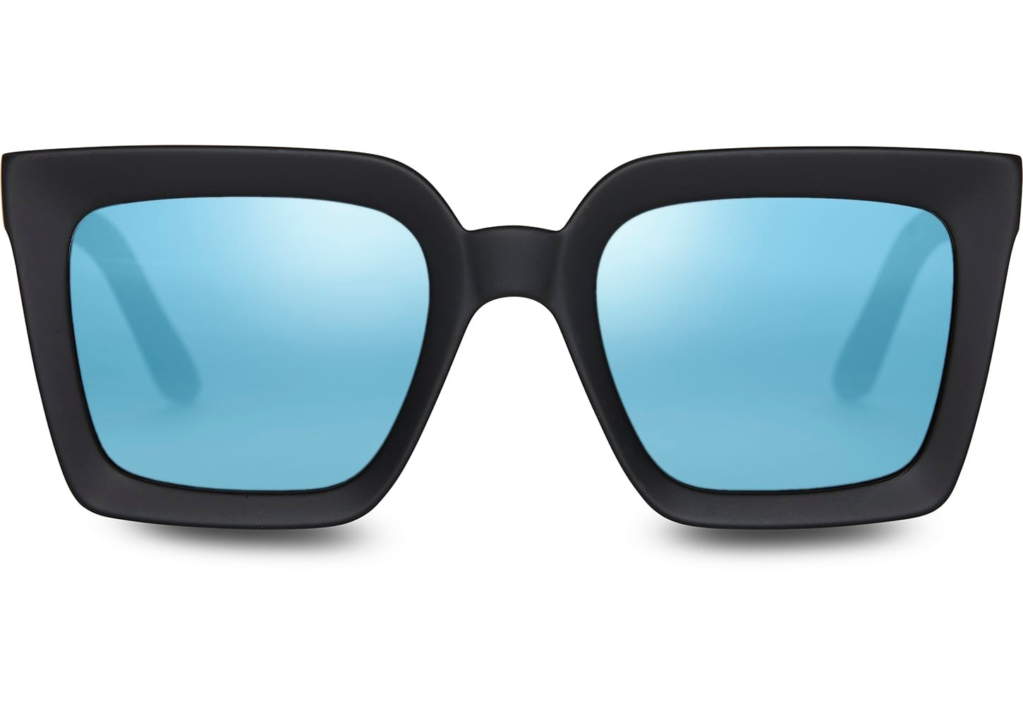 TOMS - TRAVELER Zuma Matte Black Sunglasses / Blue  Lenses