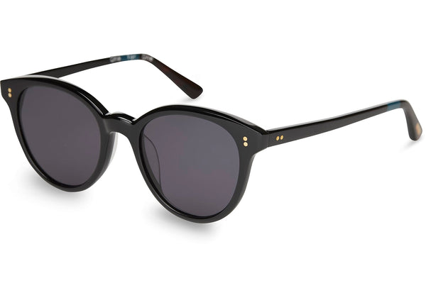 TOMS - Aaryn Shiny Black Sunglasses / Dark Grey Lenses