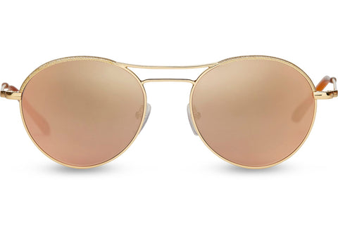 TOMS - Melrose  Yellow Gold Shimmer Sunglasses / Champagne Mirror Lenses