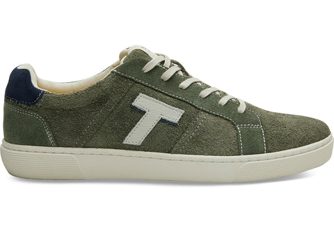 TOMS - Men's Leandro Lichen Green Shaggy Suede Sneakers