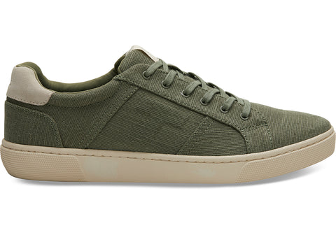 TOMS - Men's Leandro Lichen Green Heritage Canvas Sneakers