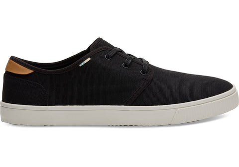 TOMS - Men's Topanga Collection Carlo Black Heritage Canvas Sneakers