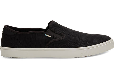 TOMS - Men's Topanga Collection Baja Black Heritage Canvas Slip-Ons