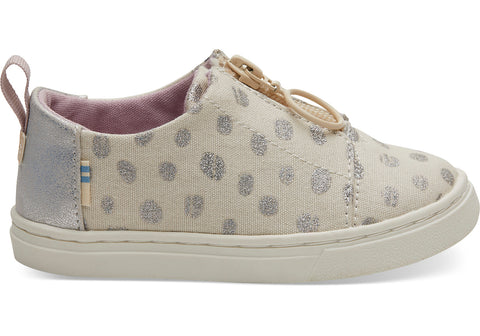 TOMS - Tiny Toms Lenny Natural Metallic Torn Dots Sneakers