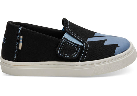TOMS - Tiny Toms Luca Black Canvas Glow In The Dark Sneakers