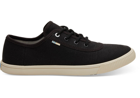 TOMS - Women's Topanga Collection Carmel Black Heritage Canvas Sneakers