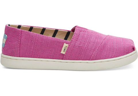 TOMS - Youth Classics Rose Violet Heritage Canvas Slip-Ons