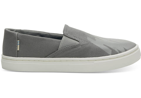 TOMS - Youth Luca Grey Canvas Glow In The Dark Slip-Ons