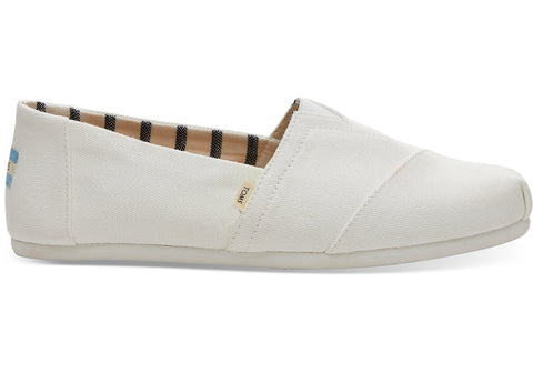 TOMS - Men's Classics Venice Collection White Canvas Slip-Ons