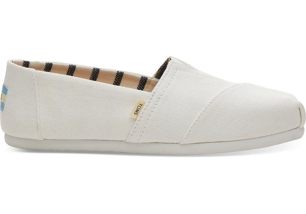 TOMS - Women's Classics Venice Collection Optic White Heritage Canvas Slip-Ons