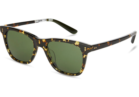 TOMS - Fitzpatrick Eco Havana Tortoise Sunglasses / Glass Bottle Green Lenses
