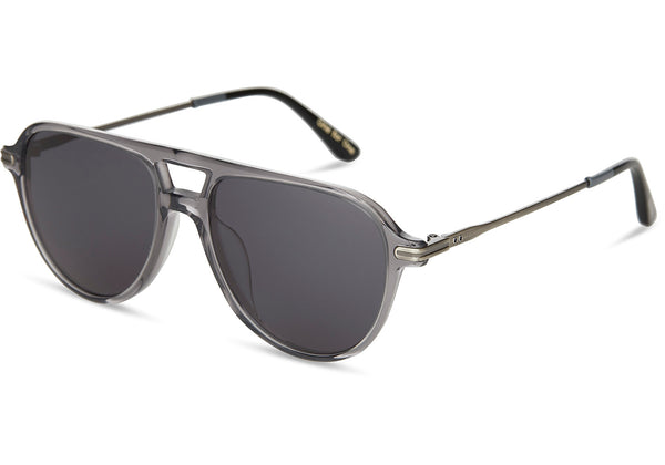 TOMS - Beckett Smoke Grey Crystal Sunglasses / Dark Grey Lenses