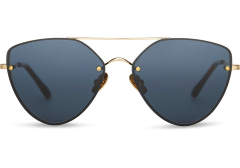 TOMS - Solana 24K Yellow Gold Sunglasses / Dark Grey Lenses