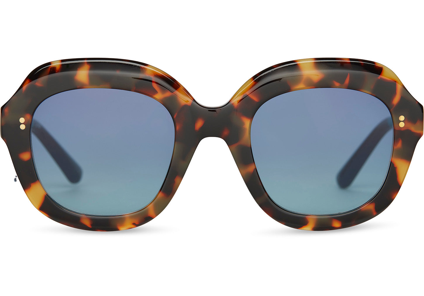 TOMS - Mariska Blonde Tortoise Sunglasses / Blue Gradient Lenses