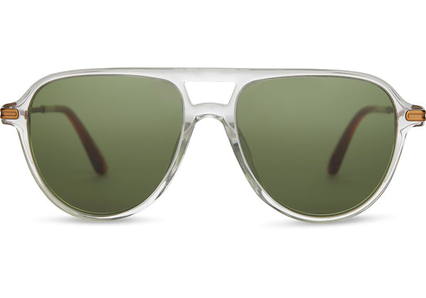 TOMS - Beckett Vintage Crystal Sunglasses / Bottle Green Lenses