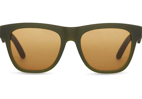 TOMS - TRAVELER by TOMS Dalston  Matte Rifle Green Sunglasses / Amber  Lenses