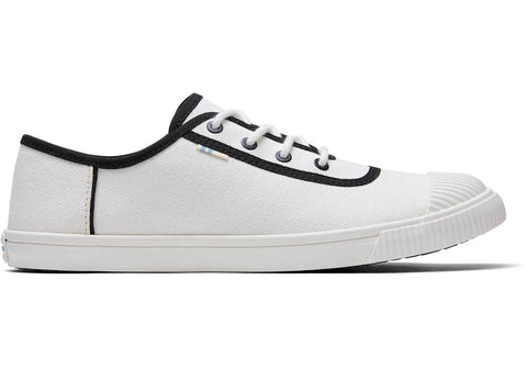 TOMS - Women's Topanga Collection Carmel White Black Canvas Sneakers