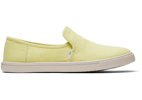 TOMS - Women's Topanga Collection Clemente Highlighter Yellow Heritage Canvas Slip-Ons