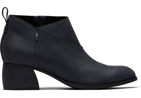 TOMS - Women's Leilani Black Leather Booties