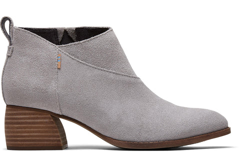 TOMS - Women's Leilani Drizzle Grey Suede Booties