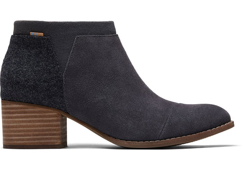 TOMS - Women's Loren Forged Iron Grey Suede Booties