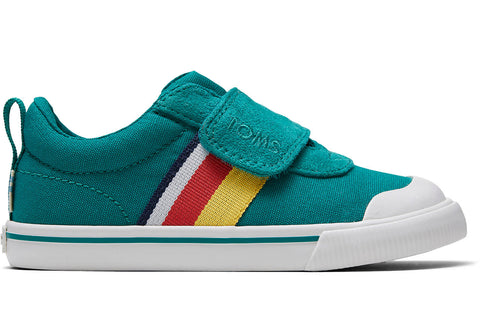 TOMS - Tiny Greenlake Striped Canvas Doheny Sneakers