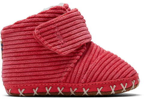 TOMS - Tiny Cuna Red Corduroy Crib Shoes