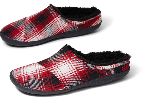 TOMS - Men's Berkeley Red Plaid Slippers