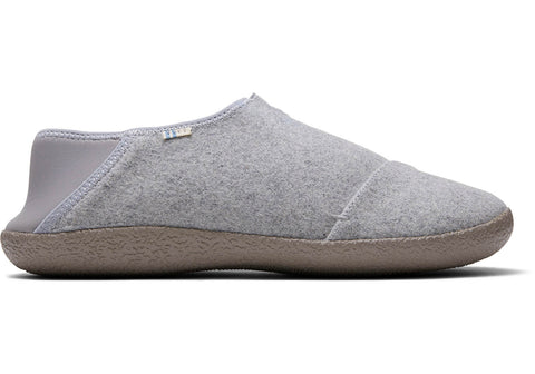 TOMS - Men's Rodeo Drizzle Grey Felt Slippers