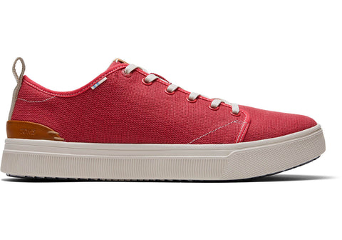 TOMS - Men's TRVL LITE Low Red Canvas Sneakers