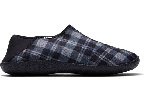 TOMS - Men's Rodeo Black Twill Check Slippers