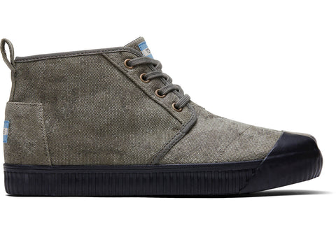 TOMS - Men's Venice Collection Olive Green Distressed Boots
