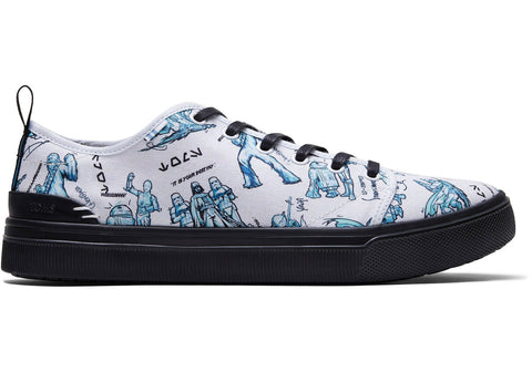 TOMS - Men's Star Wars Collection TRVL LITE Low White Character Sketch Print Sneakers